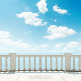 Clouds over balcony Royalty Free Stock Photos