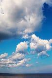 Clouds over Baltic sea. stock photos