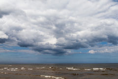 Clouds over Baltic sea. Stock Images
