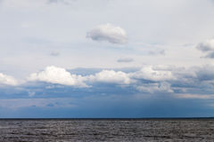 Clouds over Baltic sea. Stock Photography