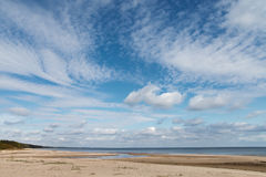 Clouds over Baltic sea. Stock Photo