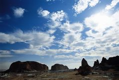 Clouds Over Barren Landscape Stock Photos