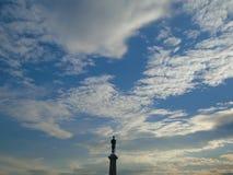 Clouds over Belgrade stock images