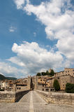 Clouds over Besalu Catalunya Spain Stock Image
