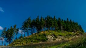 Clouds over Beskids mountains. stock footage