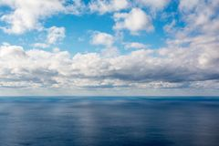 Clouds over the Black Sea. Clouds over the sea, sunny and windy day, autumn scud Stock Image