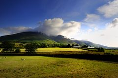 Clouds over Blencathra Stock Photography