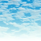 Clouds over blue. Here is a simple clouds background - it fades to white at the bottom. This tiles seamlessly from side to side vector illustration