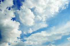 Clouds over the blue sky Royalty Free Stock Image