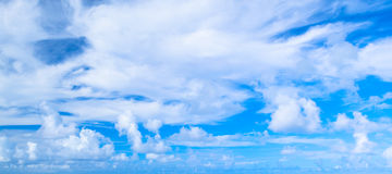 Clouds over blue sky in summer day. Background photo texture Stock Photo