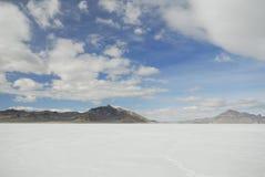 Clouds over Bonneville Salt Flats, Utah Stock Photos