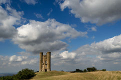 Clouds over Broadway Tower Royalty Free Stock Photo