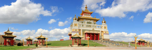 Clouds over the Buddhist temple. Golden Abode of Buddha Shakyamu Stock Photography