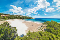 Clouds over Cala Granu Royalty Free Stock Photography