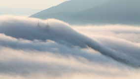 Clouds over calvary - Slovakia landscape stock footage