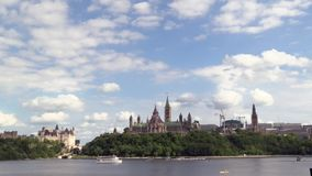 Clouds over Canada's capital city stock video