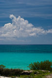 Clouds over Cancun beach Stock Image