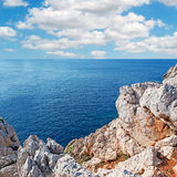 Clouds over Capo Caccia Stock Photo
