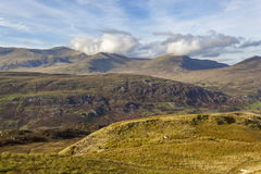Clouds over the Carneddau Range Stock Image