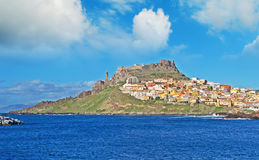 Clouds over Castelsardo Royalty Free Stock Photo
