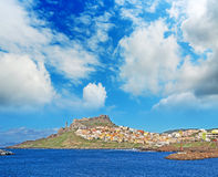 Clouds over Castelsardo Royalty Free Stock Photography