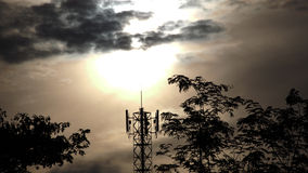 Clouds over Cell Site Stock Image