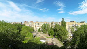 Clouds over the city. diurnal motion, Makeevka, Ukraine. Full HD. stock video footage