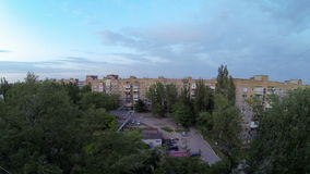Clouds over the city. diurnal motion, Makeevka, Ukraine. Full HD stock video