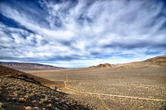 Clouds over Death Valley Royalty Free Stock Photography