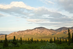 Clouds over Denali National Park Royalty Free Stock Image