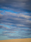 Clouds over desert Royalty Free Stock Photography