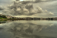 Clouds over the estuary Royalty Free Stock Photography