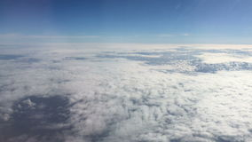 Clouds over Europe stock footage
