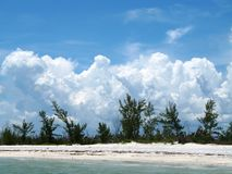 Clouds over Florida Beach. Florida beach scene in Gulf of Mexico off of Southwest Florida Stock Image