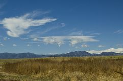 Clouds over the front range of Colorado Royalty Free Stock Image