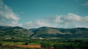 Clouds over fruit orchards of Andalusia, Spain. Fruit orchards of Andalusia, Spain stock photography