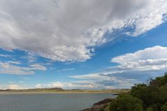 Clouds over Gariep Dam Royalty Free Stock Image