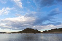 Clouds over Gariep Dam Royalty Free Stock Images