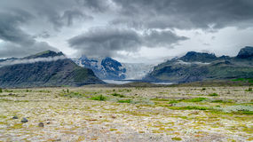 Clouds over a glacier Stock Photography