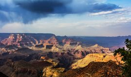 Clouds over Grand Canyon Royalty Free Stock Photography