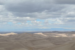 Clouds over the Great Sand Dunes National Park, Colorado Stock Photos