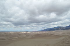 Clouds over the Great Sand Dunes National Park, Colorado Stock Image