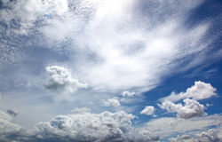 Clouds over the Gulf of Siamese Royalty Free Stock Images