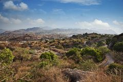 Clouds over Guru Shikhar, Arbuda Mountains, Mount Abu, Sirohi Di Stock Image