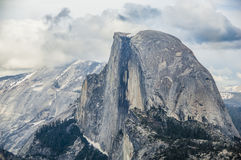 Clouds Over Half Dome Royalty Free Stock Photo