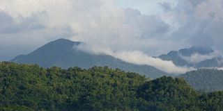 Clouds over high mountains in the Philippines Stock Image