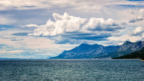 Clouds over the hills by the Adriatic sea in Croatia in summer.  Stock Image