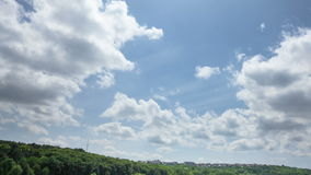Clouds over hills of Chisinau, Republic of Moldova stock footage