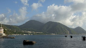 Clouds over Hills on Dominica Roseau Royalty Free Stock Photos