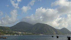 Clouds over Hills on Dominica Roseau Royalty Free Stock Images